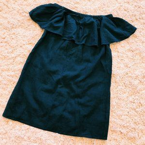 Old Navy Dresses - Old Navy Off-The Shoulder Navy Blue Linen Dress